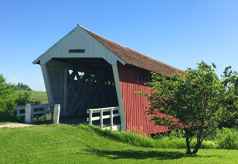 Imes Bridge, a covered bridge Madison County