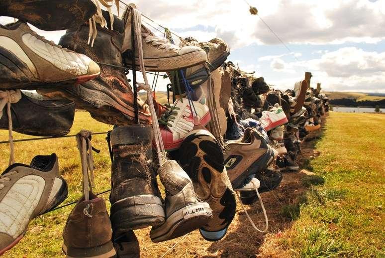 Shoe Fence at Waihola