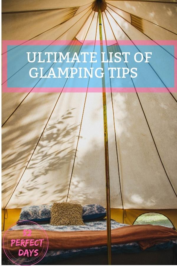 Glamping tips