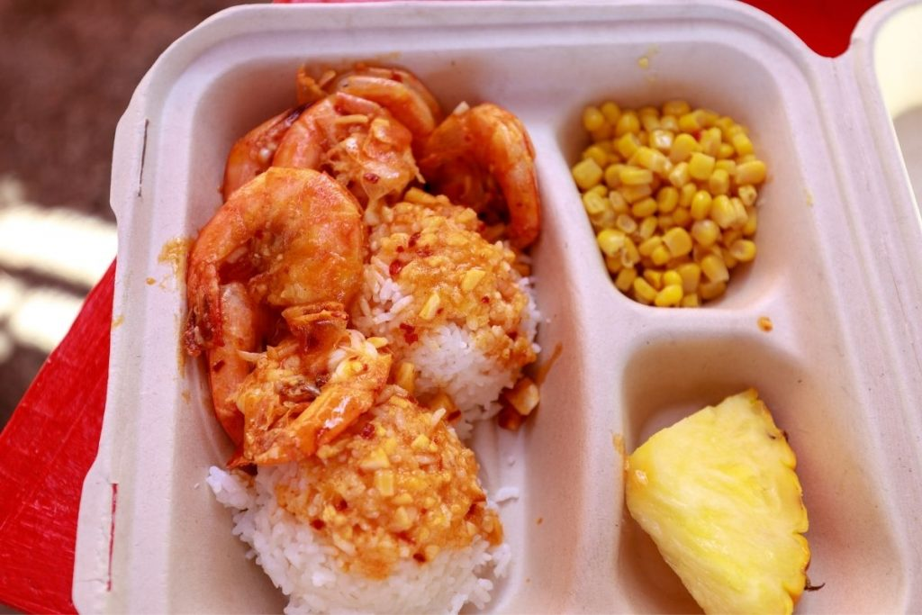 Shrimp plate lunch