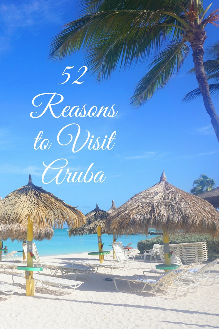Aruba is one of the most visited (and re-visited) islands in the Caribbean. Here are the top 52 reasons to visit Aruba and it's gorgeous white sand beaches! #travel #visitaruba #caribbean
