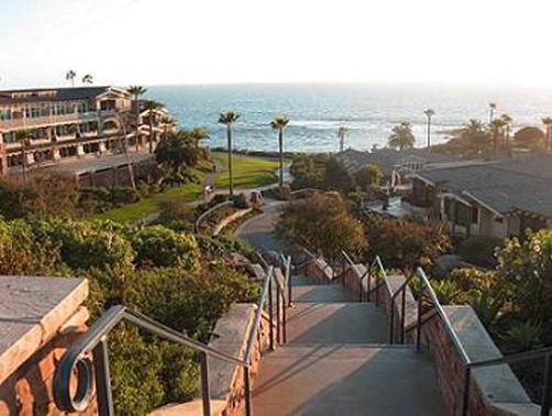 Laguna Beach California, stairs to beach