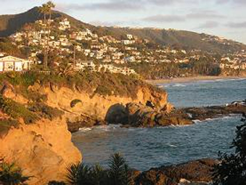 Laguna Beach California view of ocean