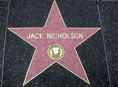 Jack Nicholson Star. Hollywood walk of fame.