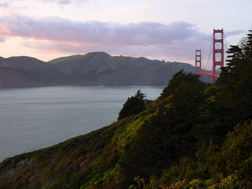 View from Golden Gate Bridge as you enter Marin County