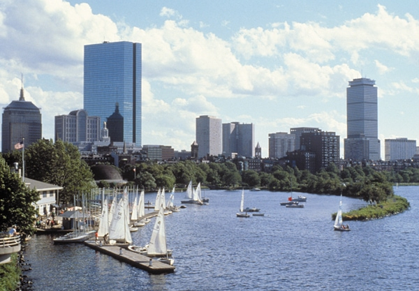 Charles River Basin, Boston, viewed from Cambridge, Massachusetts