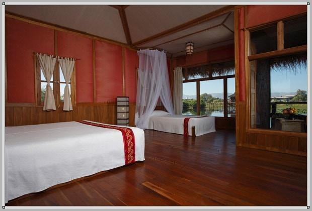 Shwe Inn Tha guest room