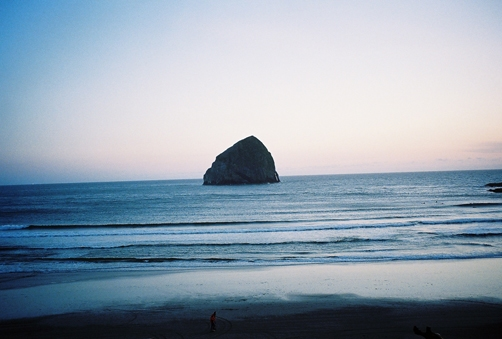 sunset at the beach in pacific city