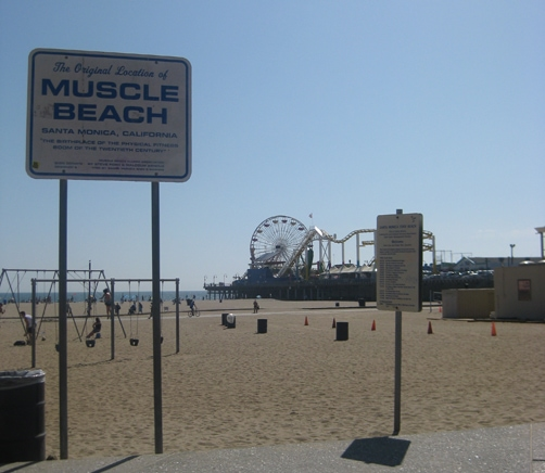Muscle Beach in Santa Monica, California