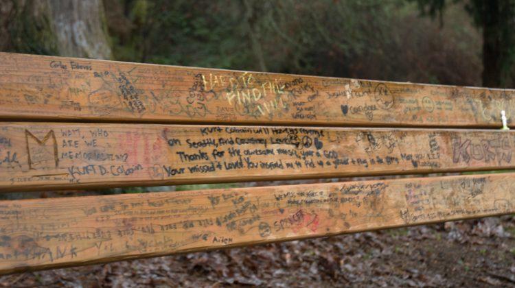 Seattle Grunge Nirvana Bench