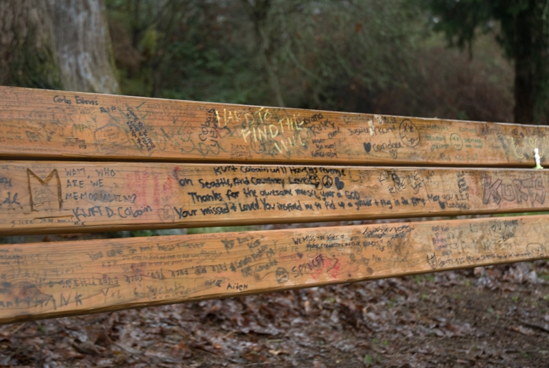 Seattle Grunge Nirvana Bench