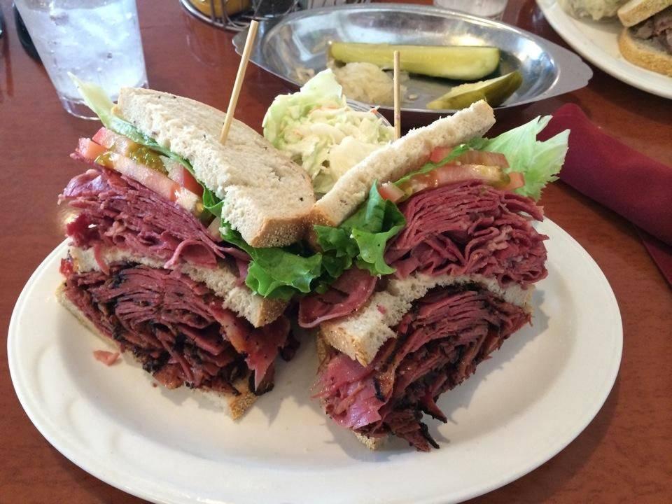 pastrami sandwich at Sherman's Deli