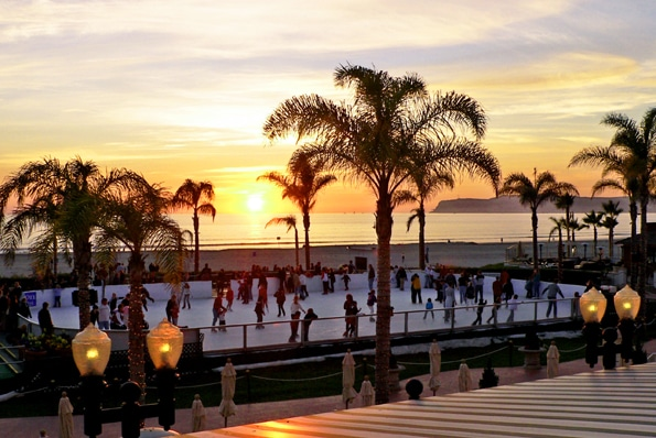 Ice Skating at the Hotel Del Coronado