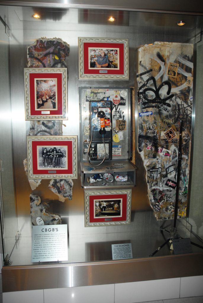 CBGBs phone booth at Hard Rock Hotel San Diego