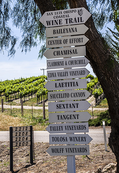 wine tour, Edna Valley, May 2014