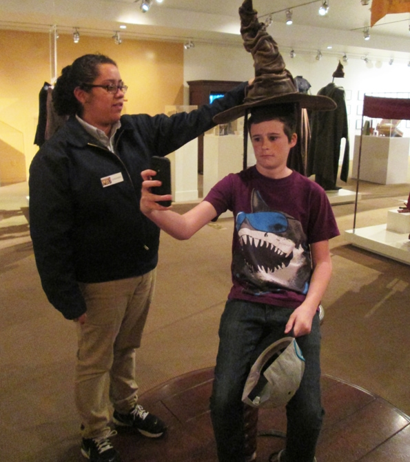 sorting hat from Harry Potter at Warner Bros Museum
