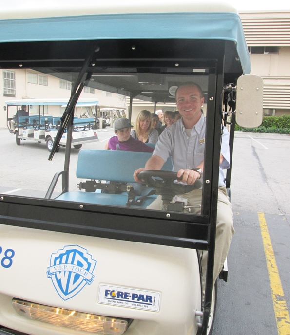 Tram on Warner Bros Tour