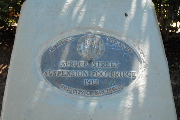 spruce street plaque san diego