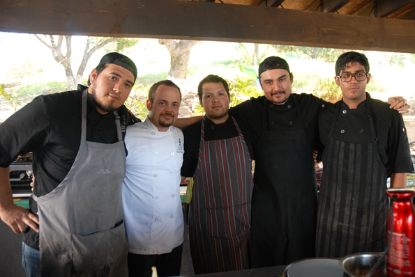 Chef Alcocer at Malva in Valle de Guadalupe