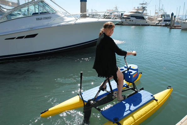 Waterbike at Hotel Coral Marina in Ensenada