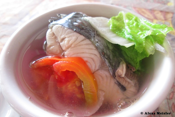 oslob, cebu, philippins, fish soup, tinola