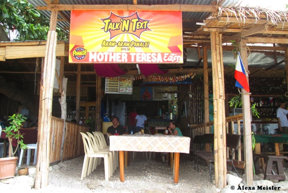 Mother Teresa Eatery in Oslob, Philippines