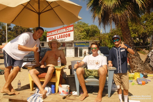 lifeguards at Carlsbad Lagoon