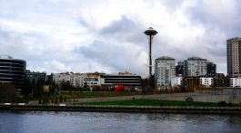 View of space needle in Seattle, Washington
