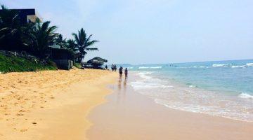 Hikkaduwa beach in Southern Sri Lanka
