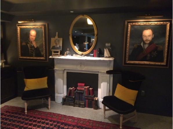 Seattle, Palladian, Lobby, Portraits, Kimpton Hotel