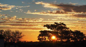Aguas Corrientes Uruguay - Great sunset