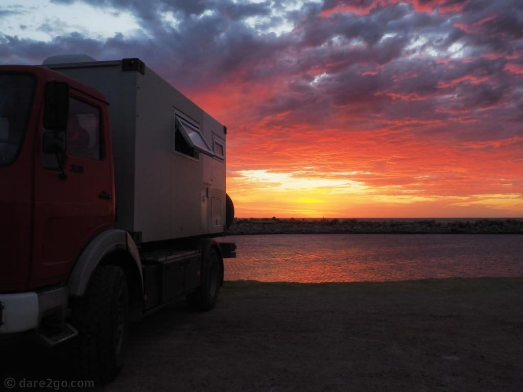 Montevideo Uruguay - Rio de la Plata sunset