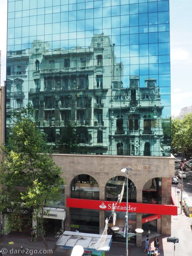 Montevideo Uruguay - reflection old-meets-new