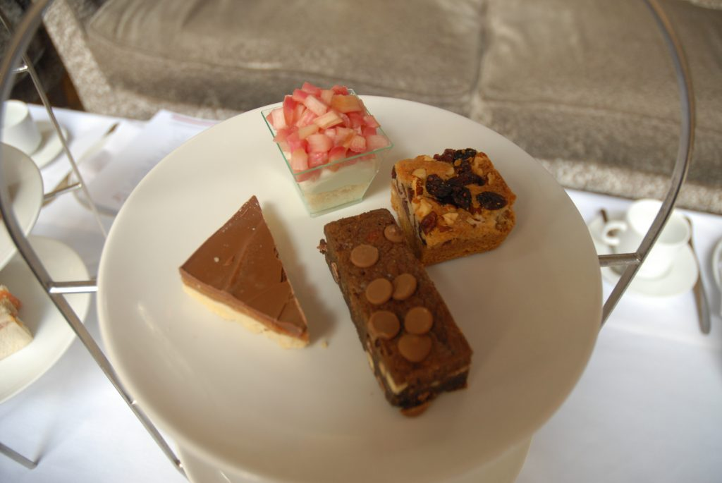afternoon tea sweets at Radisonn blu in Manchester