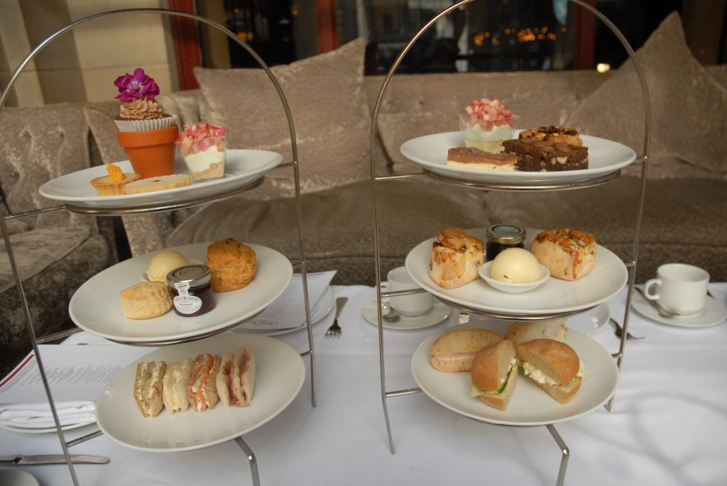 Afternoon tea at Radisson blu in Manchester, England