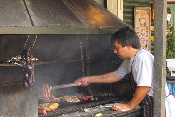 Grilling in La Boca in Buenos Aires