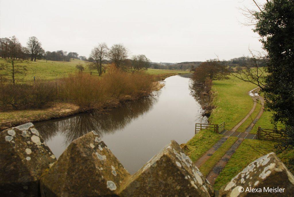 alnwick, england river near castel