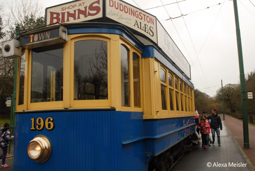 trolley at beamish museum in northern england