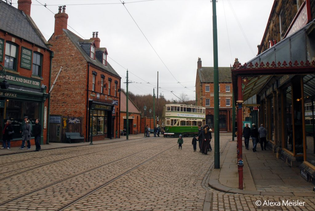 Beamish museum town street in England