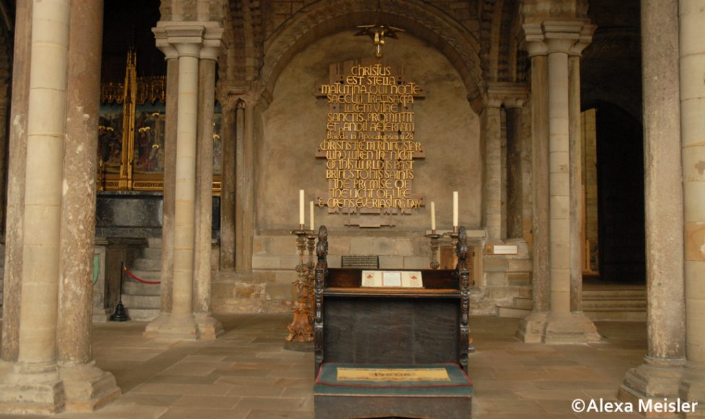 Durham Cathedral in England altar