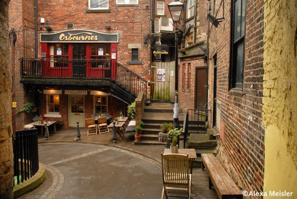 Durham, England courtyard