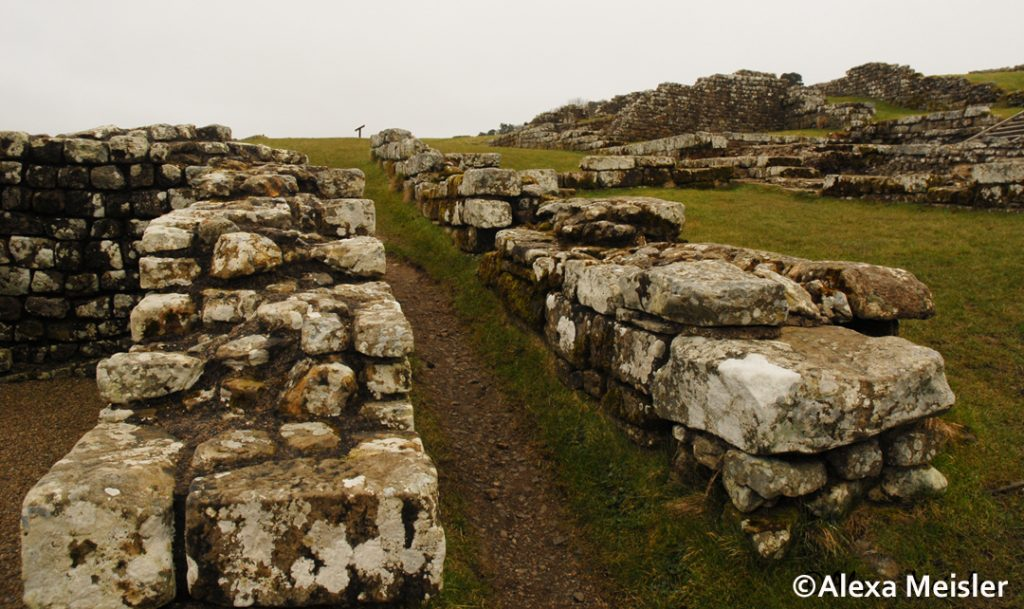 Hadrians' wall roman fort in great britain