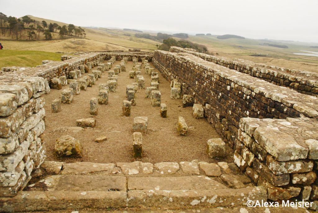 hadrian's wall ruins in northern england
