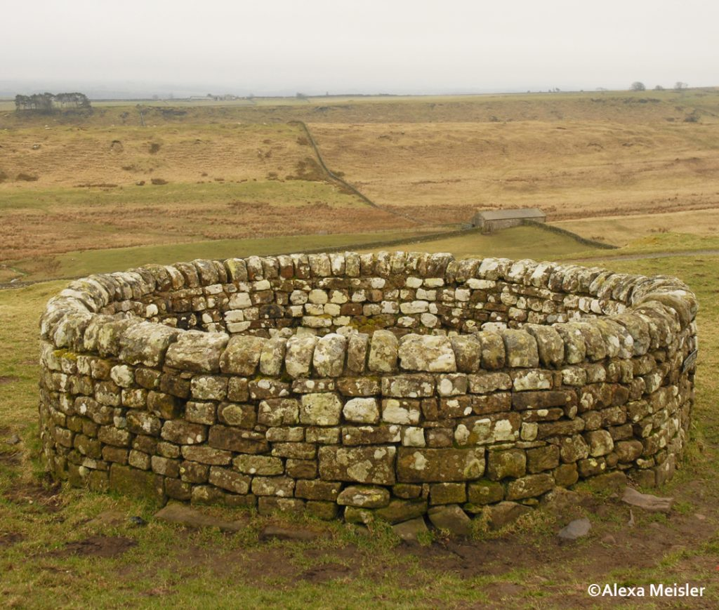Hadrian's wall in northern england