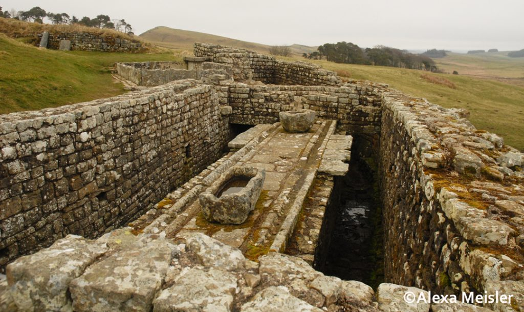 hadrian's wall in northern england toilet