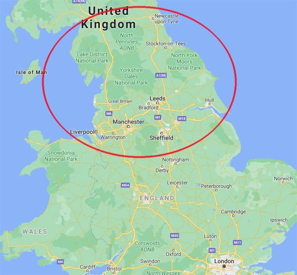Northern England Map
