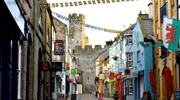quaint town in Wales