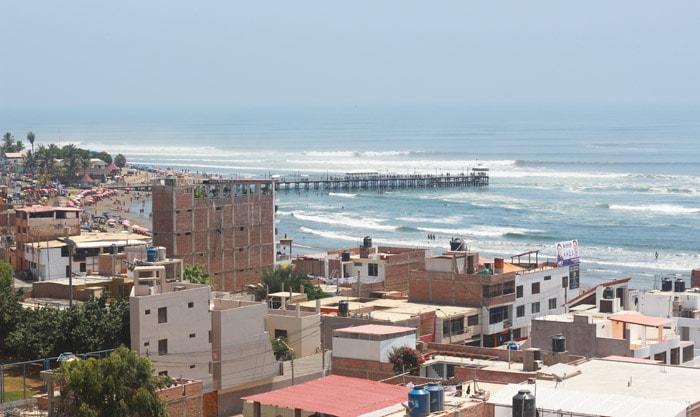 City view of Huanchaco, Peru