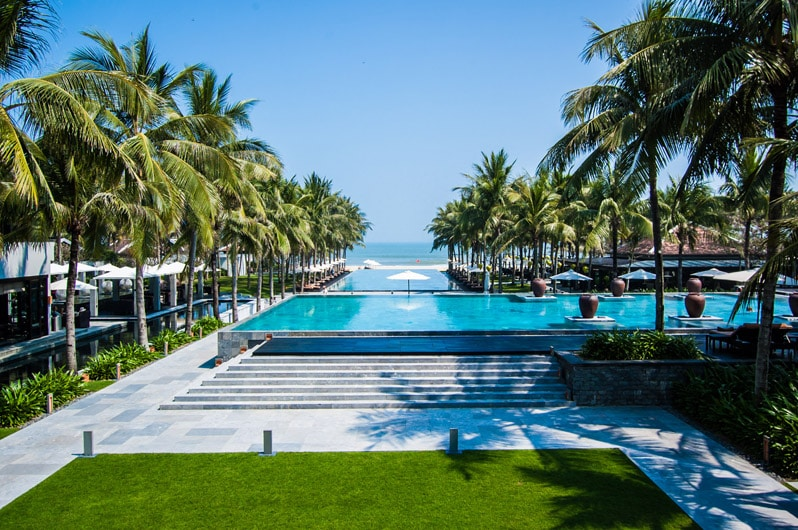 The Pool at The Nam Hai Hoi An Hotel in Vietnam