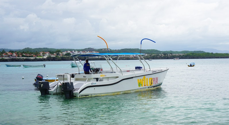 wild play boat for Power Snorkeling in the Dominican Republic
